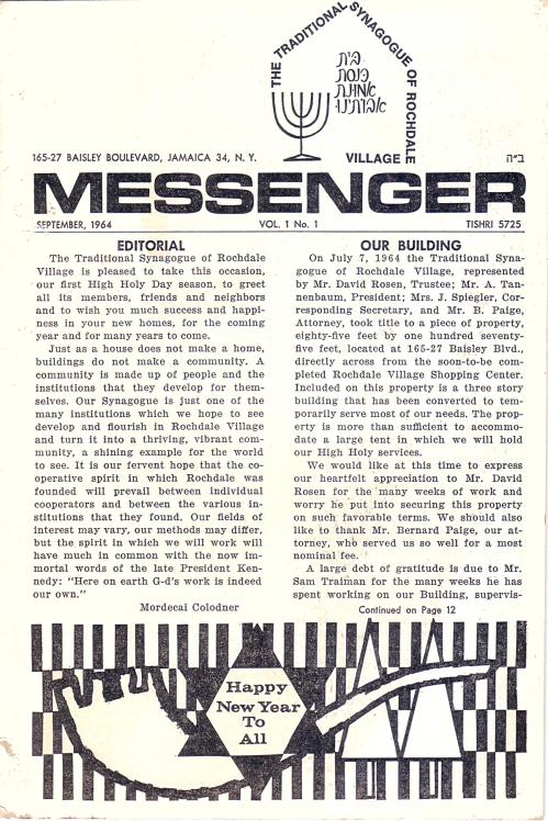 04c TraditionalSynagogeMessenger  Sept 64