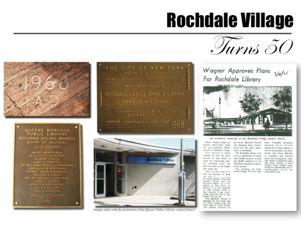50th Anniversary of Rochdale Village library