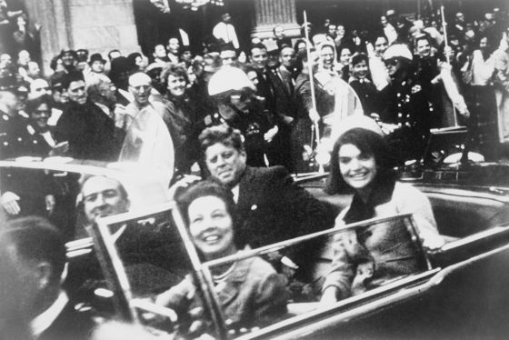 Former President Kennedy and then First Lady Jacqueline Kennedy on that fateful ride.