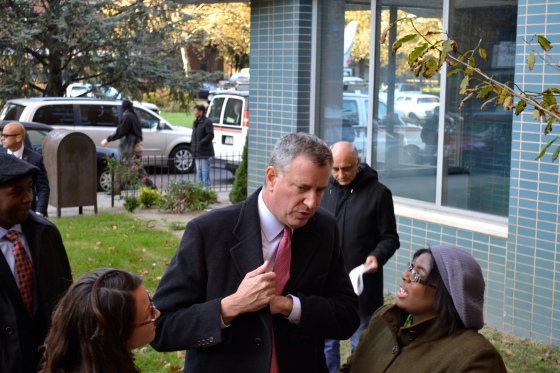 DeBlasio with democratic club
