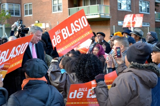 DeBlasio with group