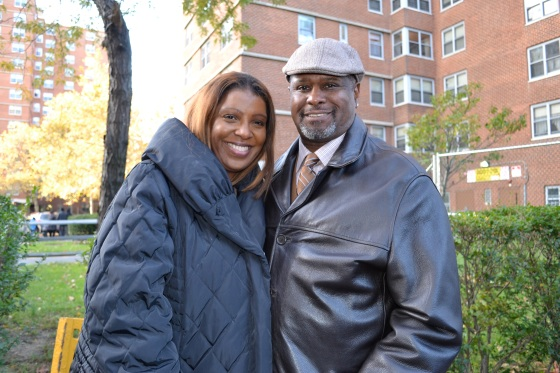 Future Public Advocate, Letitia James with Board Member Ed Douglass.