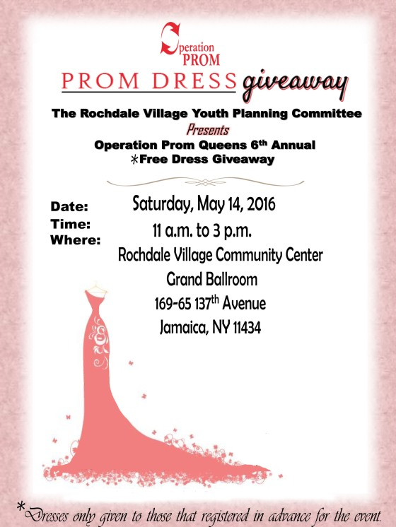 Deserving Queens Ny Teens To Receive Free Prom Dresses At Rochdale
